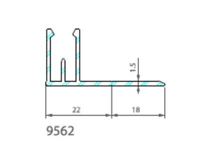 Профиль для накладки 9568 Premium flat 167 Twinson (9562)