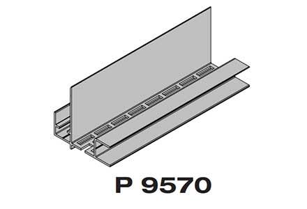 Профиль основание  для наружного угла  Premium flat 167 Twinson (9570)