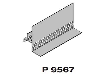 Стартовый профиль с капельником  Premium flat 167 Twinson (9567)
