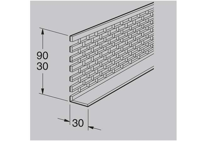Вентиляционная решетка 30х90 Werzalit
