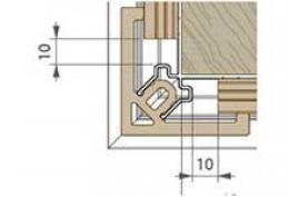 Профиль-угол наружный для накладки 9571 Premium flat 167 Twinson (9564)
