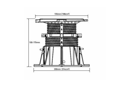 Регулируемые опоры Buzon (Бельгия ) DPH-5 (с корректором угла наклона)