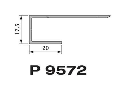 Конечный профиль  Premium flat 167 Twinson (9572)
