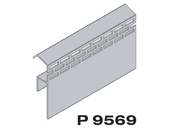 Конечный профиль с капельником Premium flat 167 Twinson (9569)