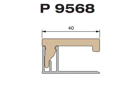 Профиль накладка Premium flat 167 Twinson (9568)