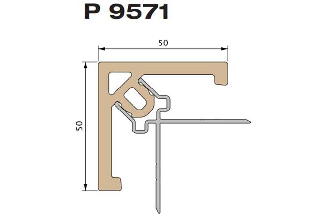 Профиль облицовочный угловой Premium flat 167 Twinson (9571)