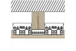 Клипса для крепления панели  Premium flat 167 Twinson (9487)