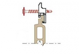 Клипса для крепления панели  Premium flat 167 Twinson (9488)